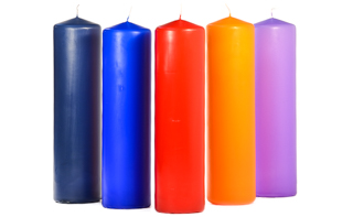 3 x 12 Unscented Pillar Candles
