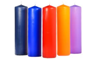 3 x 11 Unscented Pillar Candles