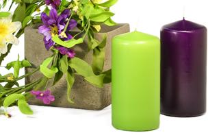 3 x 6 Unscented Pillar Candles