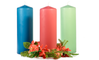 3 x 9 Unscented Pillar Candles