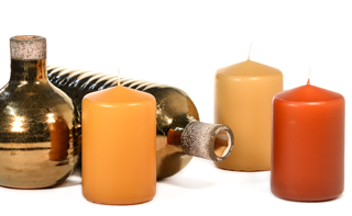 3 x 4 Unscented Pillar Candles