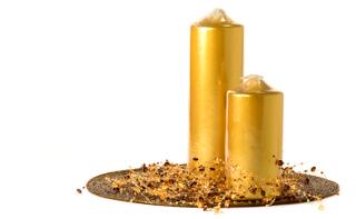 Metallic Pillar Candles