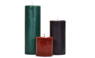 Recycled Wax Pillars