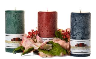 Textured 3 x 6 Scented Pillar Candles
