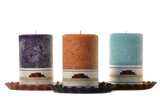 Textured 4 x 6 Scented Pillar Candles