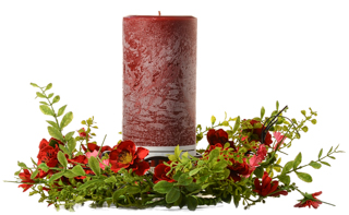 Textured 4 x 9 Scented Pillar Candles