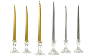 Metallic Taper Candles