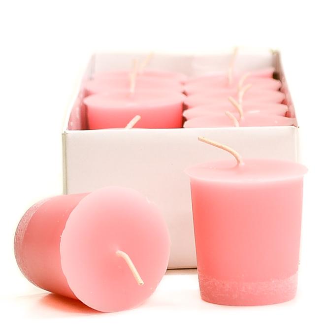 baby powder pink votives