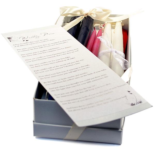b201adbd2d830a Wedding Poem Candle Set Bridal Shower Candle Poem Wedding Gift
