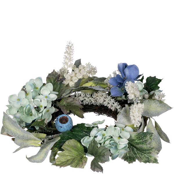 hydrangea petunia candle ring 45 inch