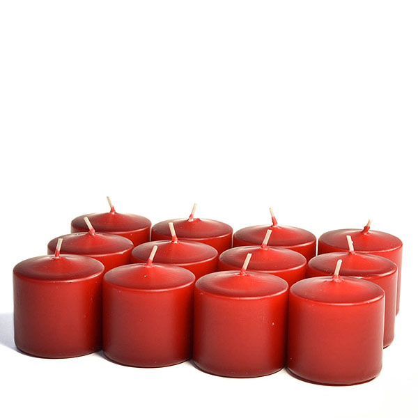 Unscented Burgundy Votive Candles 10 Hour