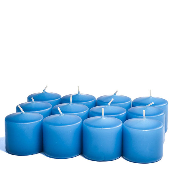 Unscented Colonial blue Votive Candles 15 Hour