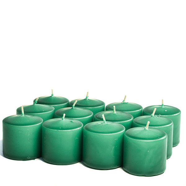 Unscented Forest green Votive Candles 15 Hour
