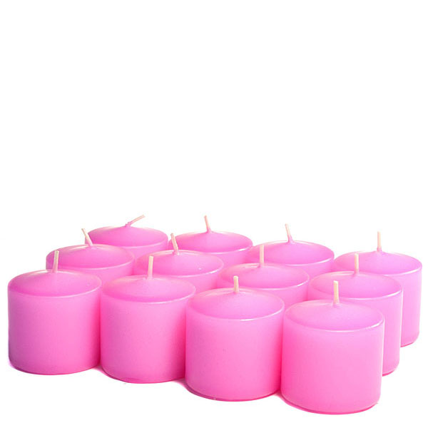 Unscented Hot pink Votive Candles 15 Hour