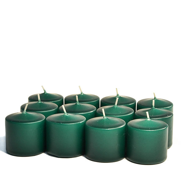 Unscented Hunter green Votive Candles 15 Hour