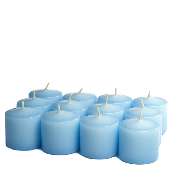 Unscented Light blue Votive Candles 10 Hour