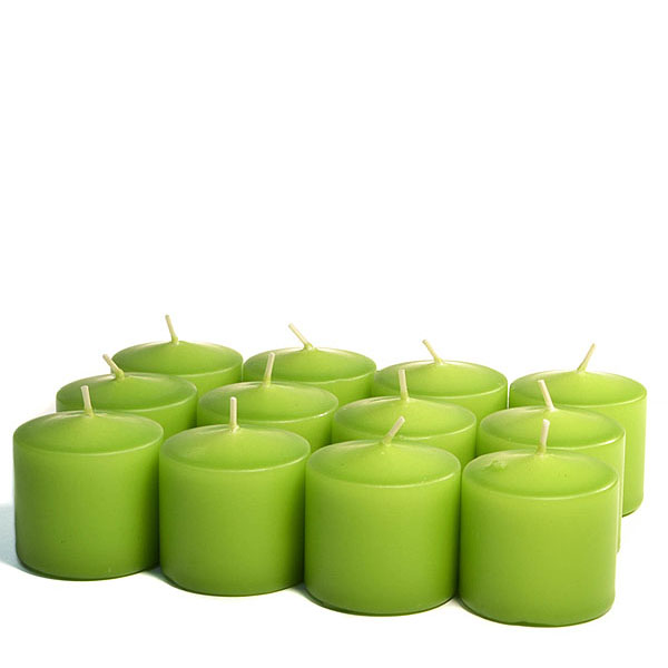 Unscented Lime green Votive Candles 10 Hour