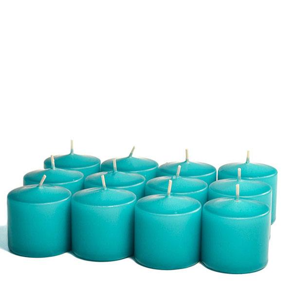 Unscented Mediterranean blue Votive Candles 15 Hour