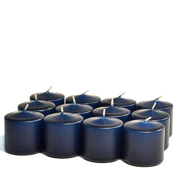 Unscented Navy Votive Candles 10 Hour