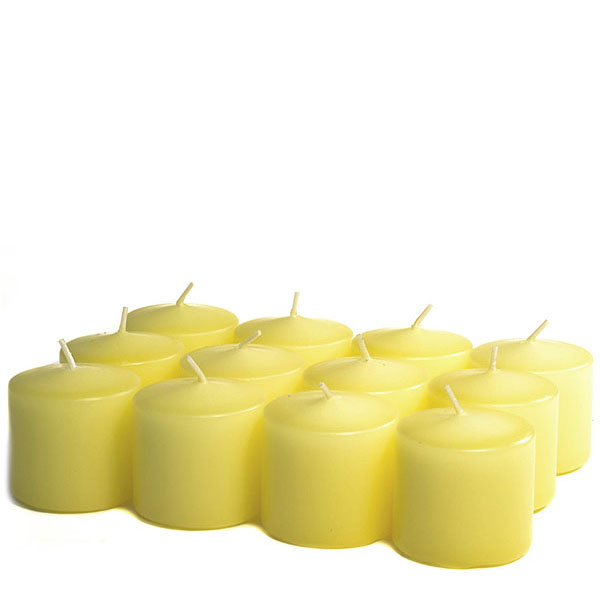Unscented Pale yellow Votive Candles 10 Hour