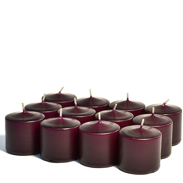 Unscented Plum Votive Candles 10 Hour