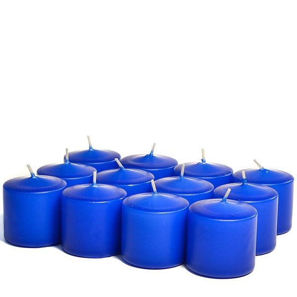Unscented Royal blue Votive Candles 15 Hour
