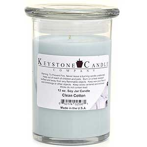Clean Cotton Soy Jar Candles 12 oz Madison