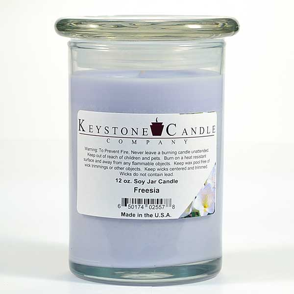 Freesia Soy Jar Candles 12 oz Madison