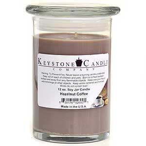 Hazelnut Coffee Soy Jar Candles 12 oz Madison