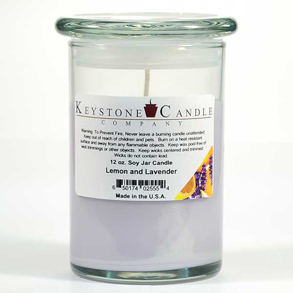 Lemon and Lavender Soy Jar Candles 12 oz Madison
