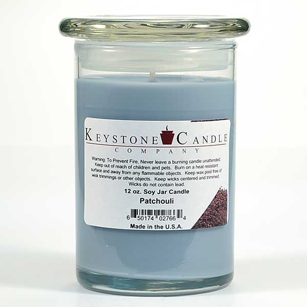 Patchouli Soy Jar Candles 12 oz Madison