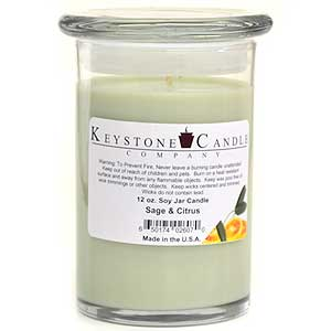 Sage & Citrus Soy Jar Candles 12 oz Madison