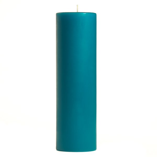 3 x 9 Blue Christmas Pillar Candles