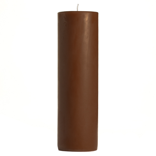2 x 6 Chocolate Fudge Pillar Candles
