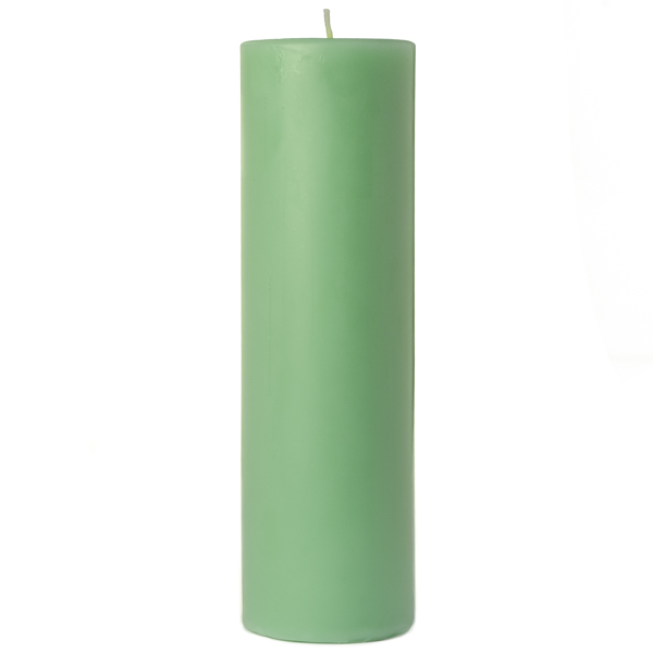 2 x 6 Honeydew Melon Pillar Candles