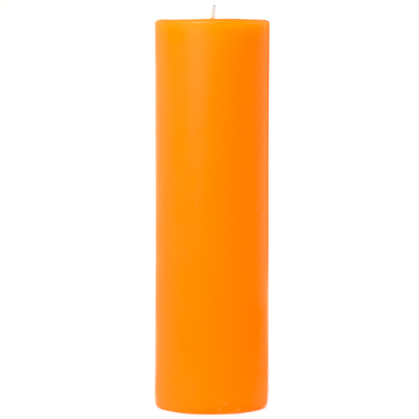 2 x 6 Orange Twist Pillar Candles