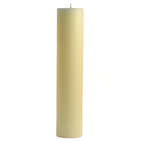 3 x 12 French Butter Cream Pillar Candles