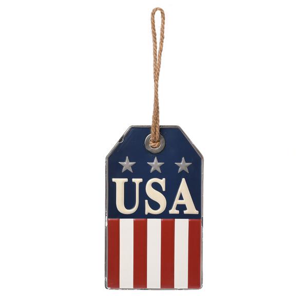 USA Americana Wall Tag Metal