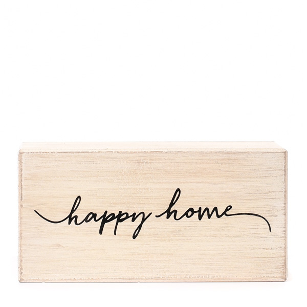 Happy Home Block Table Decor
