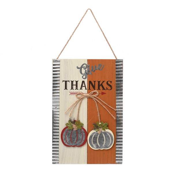 Give Thanks Wall Sign