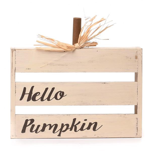 Tabletop Hello Pumpkin Sign