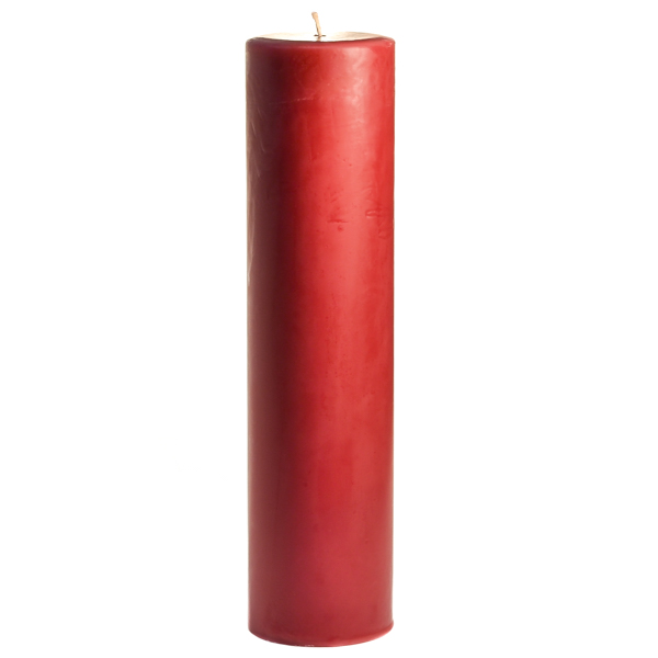 3 x 12 Raspberry Cream Pillar Candles