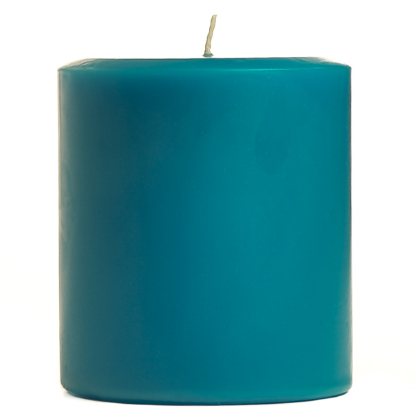 3 x 3 Blue Christmas Pillar Candles