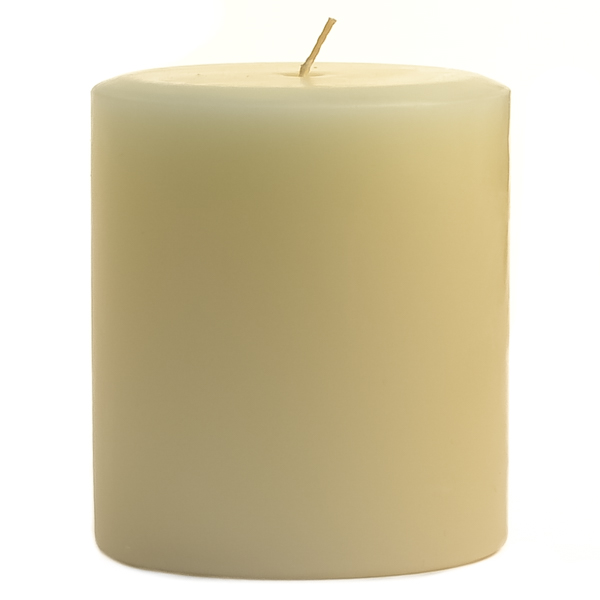 3 x 3 French Butter Cream Pillar Candles