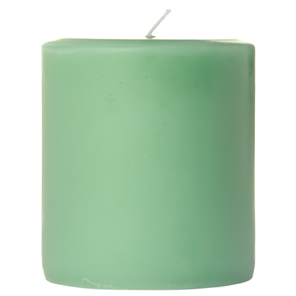 4 x 4 Honeydew Melon Pillar Candles