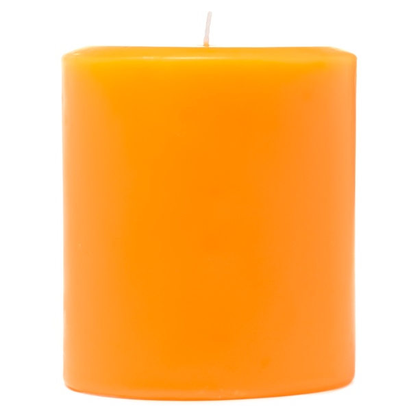 3 x 3 Orange Twist Pillar Candles