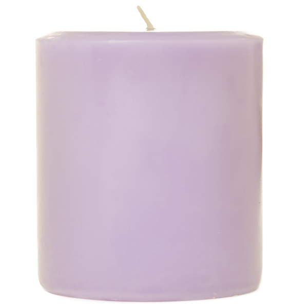 3 x 3 Lemon Lavender Pillar Candles