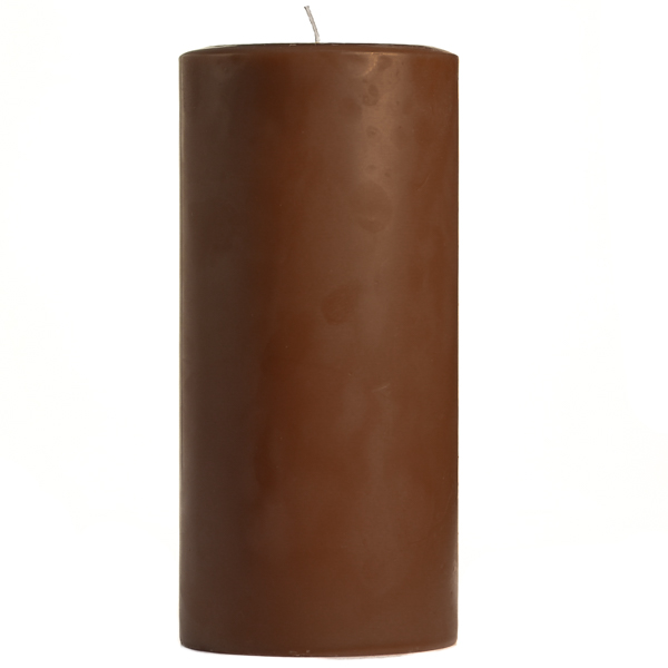 3 x 6 Chocolate Fudge Pillar Candles