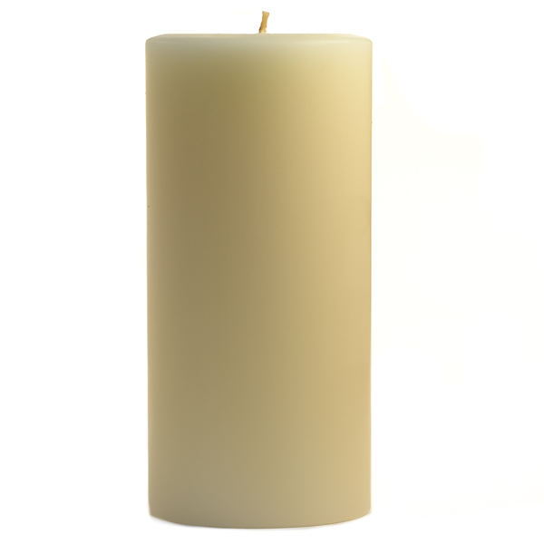 3 x 6 Unscented Ivory Pillar Candles