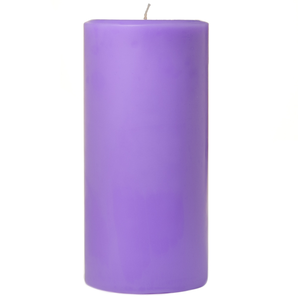 3 x 6 Lavender Pillar Candles